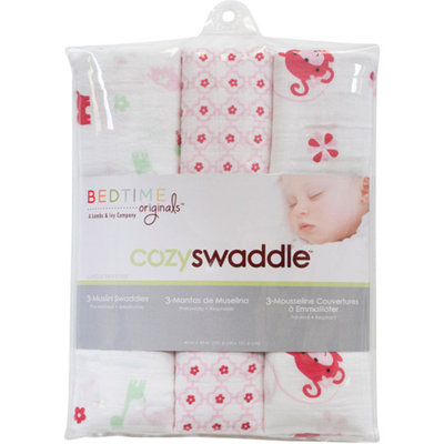 Lambs & Ivy Bedtime Originals Jungle Sweeties 3-Pack Swaddle Blankets