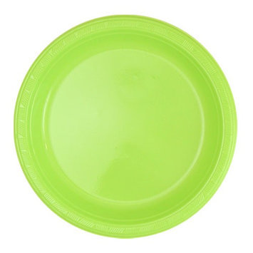 King Zak Ind Lillian Tablesettings 80590 Solid Color 9 in. Lime Green Plastic Plate - 600 Per Case