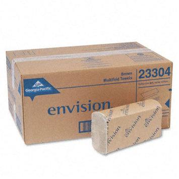 Georgia Pacific Envision Multifold Paper Towel, 9-1/4 x 9-1/2, Brown, 250/Pack, 16/Carton