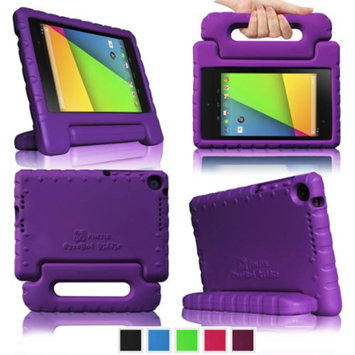 Fintie Shock Proof Convertible Handle Stand Kids Friendly for Google Nexus 7 FHD 2nd Gen 2013 Android Tablet, Purple