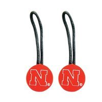 Aminco International NCAA Zipper Pull Pet id Luggage Bag Tag Nebraska Huskers 2 Pack