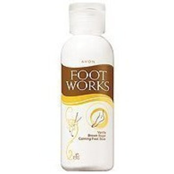 Avon Foot Works Vanilla & Brown Sugar Calming Foot Soak 3.4 Oz