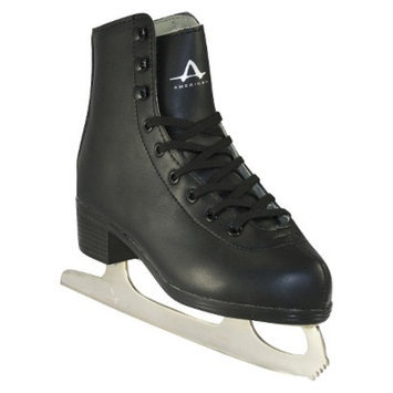 American Athletic Boys American Tricot Lined Figure Skate - Black (12)
