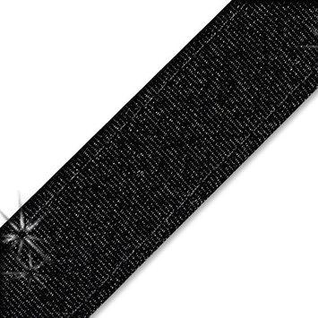 Shimmery Black Chica Band Non-Slip Headband