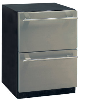 Haier DD410RS 5.4 Cu. Ft. Stainless Steel Built-In Dual Drawer Refrigerator