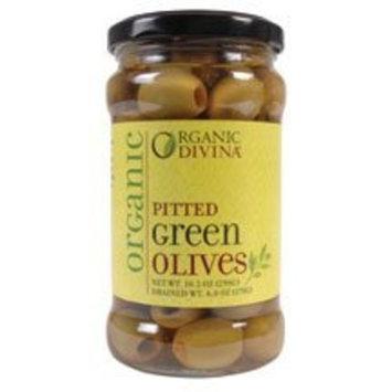 Divina Organic Pitted Halkidiki Olives ( 6x6 OZ) ( Value Bulk Multi-pack)
