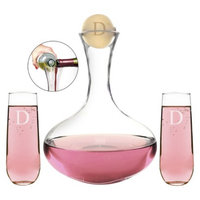 Cathy's Concepts Personalized Wedding Wine Unity Ceremony Set with Letter D