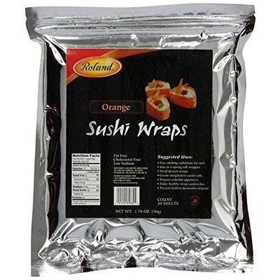 Roland Orange Sushi Wraps, 20 Sheets