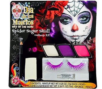 Day of the Dead Skeleton Compact with Makeup