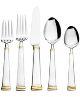 Towle Living Gold Mirabel 45-Piece Flatware Set