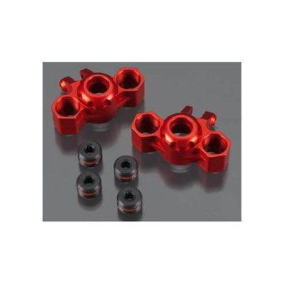 T3454RED Billet Machined Steering Block 1/16 E-Revo (2)