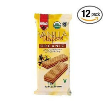 Helwa Organic Cookie Wafers Vanilla (Pack of 24)