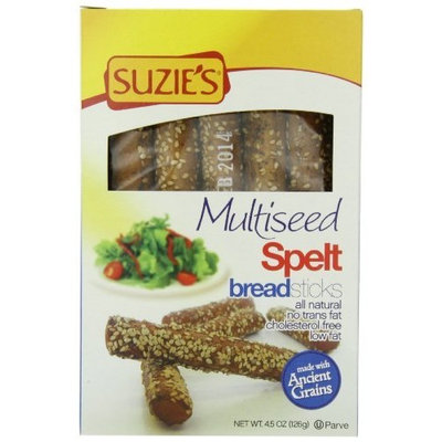 Suzies Suzie's Spelt Breadsticks, Multiseed Topping, 4.5-Ounce Boxes (Pack of 12)