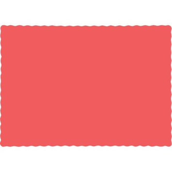 Hoffmastergroup Hoffmaster Group 863146B 9.5 x 13.375 Coral Paper Placemats Coral