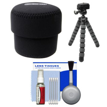OP/Tech Essentials Bundle for Sony ILCE-QX1 & Cyber-Shot DSC-QX30 Smartphone Lens-Style Camera with Case + Tripod + Accessory Kit