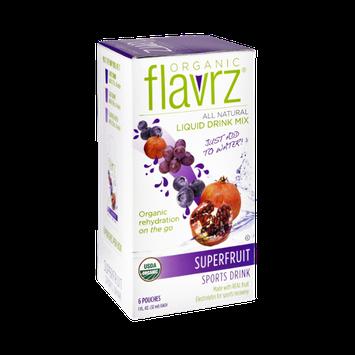 Flavrz Organic All Natural Superfruit Sports Liquid Drink Mix - 6 CT