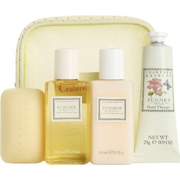 CRABTREE & EVELYN SUMMER HILL 4PC TRAVELER SET #44226
