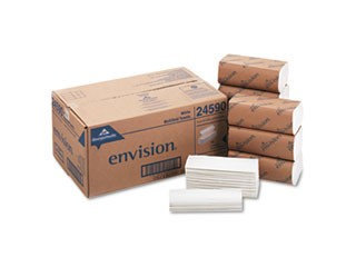 Envision Recycled Multifold Paper Towels, 1-Ply