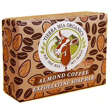 Tierra Mia Organics Almond Coffee Exfoliating Body Bar Soap
