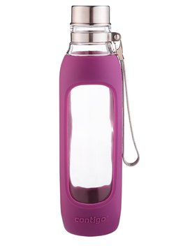 Contigo Purity Glass Water Bottle, 20-Ounce, Radiant Orchid