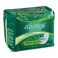 Always Ultra Thin Pads Long Super - 20 CT