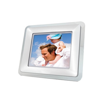 Coby 5.6 in. Digital Photo Frame with MP3 Player, Vinyl