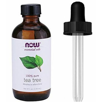 Now Foods Tea Tree Oil 4Ounce Plus Glass Dropper