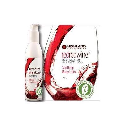 RedRedWine Resveratrol Soothing Body Lotion Highland Laboratories 6 oz Cream