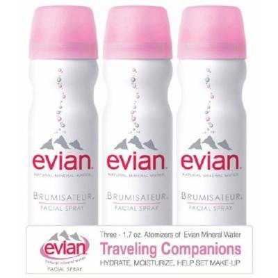 Evian Spray Brumisateur Natural Mineral Water, Travel Trio