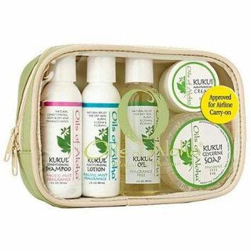 Kukui Nut Skin and Hair Care- Sampler - Gift - Travel Set - Oils of Aloha