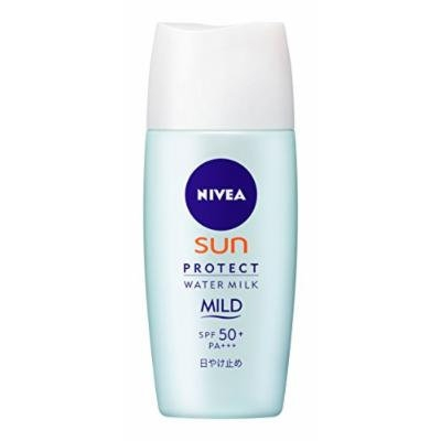 NIVEA SUN Protect Water Milk Mild SPF50+ 30ml ,UV Protection (Japan Import)
