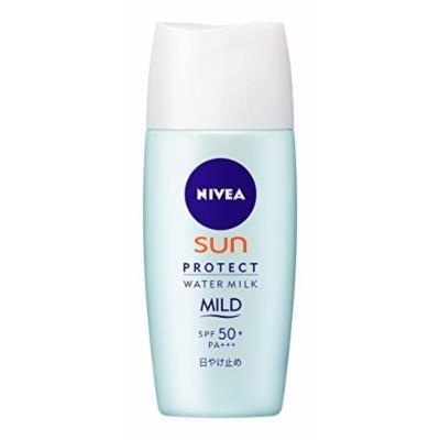 NIVEA SUN Protect Water Milk Mild SPF50+ 30ml ,UV Protection (Japan Import)