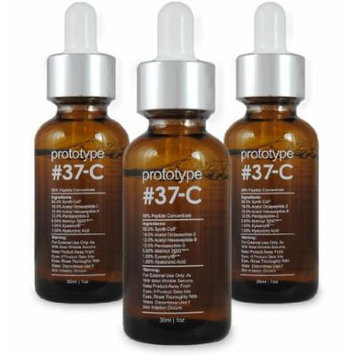 Prototype 37-C (3 Pack) - Age & Wrinkle Serum with 99% Peptide Concentration - Feel Young Again