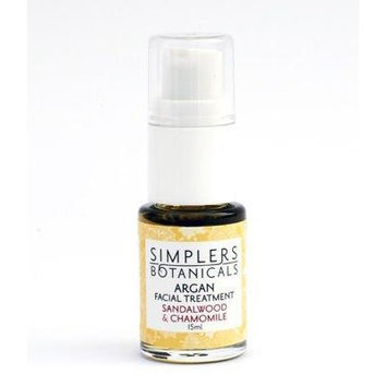 Sandalwood And Chamomile Argan Facial Treatment Organic Simplers Botanicals 15 ml Oil