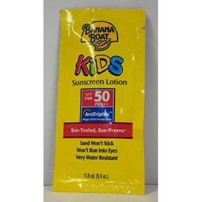 Banana Boat Kid's Sunscreen Lotion Packets Spf 50, .04 Ounce Units (12 Pieces)