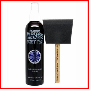 Mist Tan Famous Dave's Spray Airbrush Solution Self Tanner *20,000 TESTIMONIALS* 8 fl oz. Fast Professional Tanning Spray