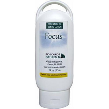 Focus Essential Oil Blend Lotion 2 Fl Oz / 57 Ml with essential oils Vetiver, Cedarwood, Lavender, Ylang Ylang, Ginger Root, Sandalwood, Patchouli cablin, Nutmeg, Lemon, Red Mandarin, Cinnamon Leaf, Melissa, Frankincense
