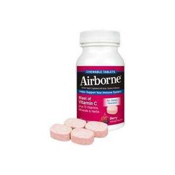 Airborne Blast of Vitamin C Berry 116 Chewable Tablets by Airborne