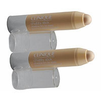 Clinique Chubby Stick Shadow Tint for Eyes - 01 Bountiful Beige Duo Pack (Lot of 2 * 0.018 oz Total 0.36 oz / 1 g)