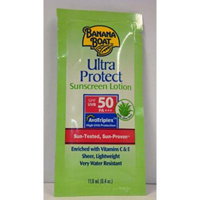 Banana Boat Ultra Protect Sunscreen Lotion Packets Spf 50, .04 Ounce Units (12 Pieces)