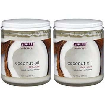 NOW Foods Pure Coconut Oil , 7 oz (Pack of 2)