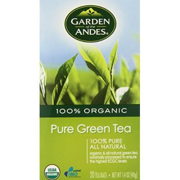 Garden of the Andes Green Organic Tea, 20 Count (Pack of 6)
