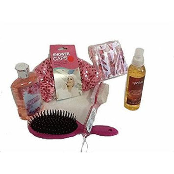 Shampoo Body Wash Conditioner Shower Cap Gel Body Splash Pedicure SetBrush Travel Size 8 COUNTS