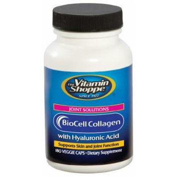 Vitamin Shoppe - Biocell Collagen With Hyaluronic Acid, 1000 mg, 180 veggie caps