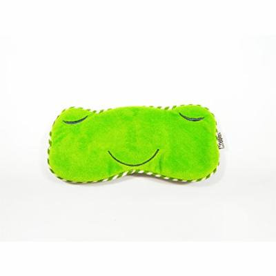 Eye Mask Shades Blindfold Sleeping Warm Cold Gel Pack Travel Comfortable Night's Bestever (Frog-Green)