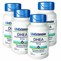 Life Extension DHEA (Dehydroepiandrosterone) 60 50mg Capsules - Discount 4-Pak
