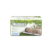 Huggies Pure & Natural Diapers, Size S1, Super Mega 66 ea