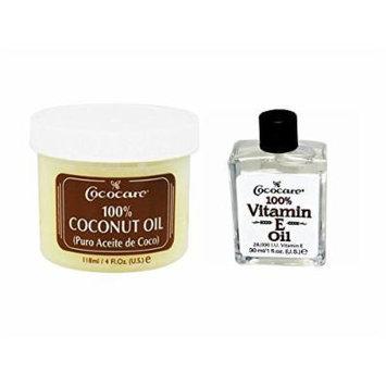 Cococare 100% Vitamin E Oil 1 Oz - Coconut Oil 4 oz