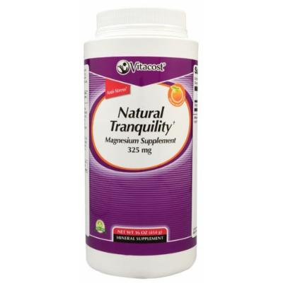 Vitacost Natural Tranquility Calm Magnesium Supplement 325mg Orange Flavored Powder 16oz