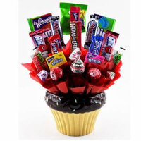 Sweets in Bloom Candy Cupcake - Ceramic Cupcake and Candy Bouquet